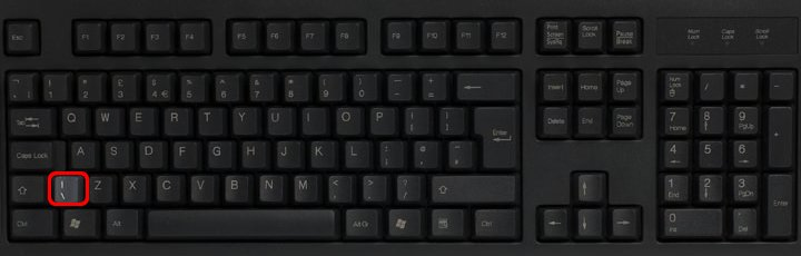keyboard with backslash on the left